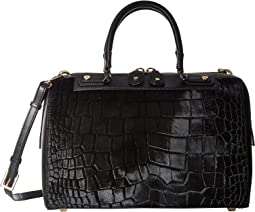 Croc Embossed Haircalf Eloise Bowler Bag