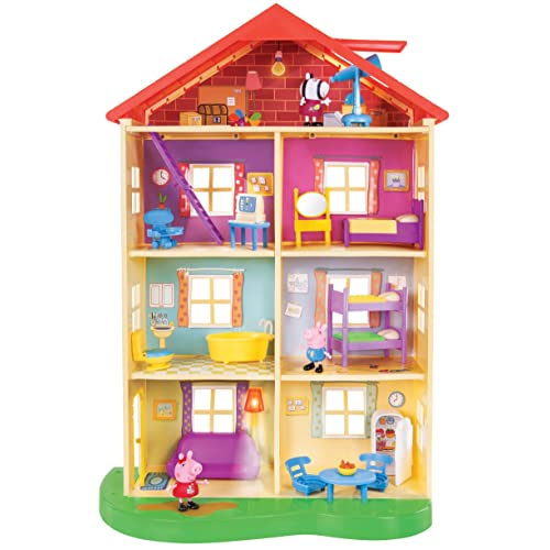 Peppa Pigs Lights & Sounds Family Home Feature Playset