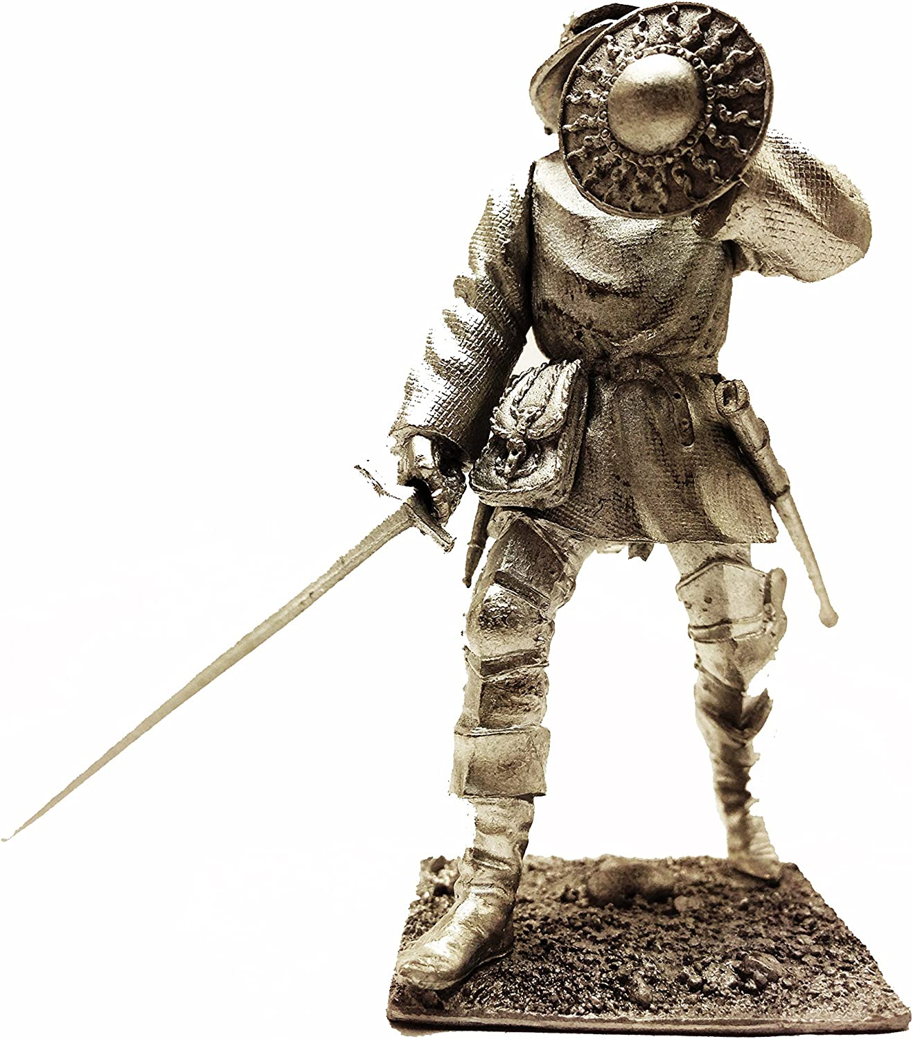 European Infantry 15 Century Skillful Soldier Tin Metal 54mm Action Figures Toy Soldiers Size 1 32 Scale for Home Décor Accents Collectible Figurines Item  C5343.6