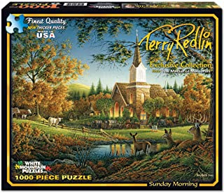 White Mountain Puzzles Exclusive Collection - Sunday Morning by Terry Redlin - 1,000 Piece Jigsaw Puzzle