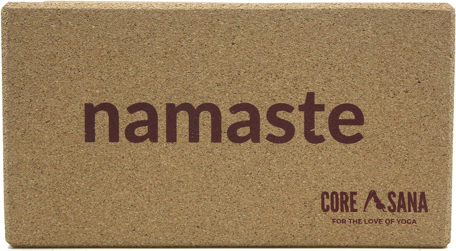 COREASANA Yoga-Block aus Kork leichter Yoga-Block Fitness-Premium-Yoga-Block /Öko-Yoga-Block