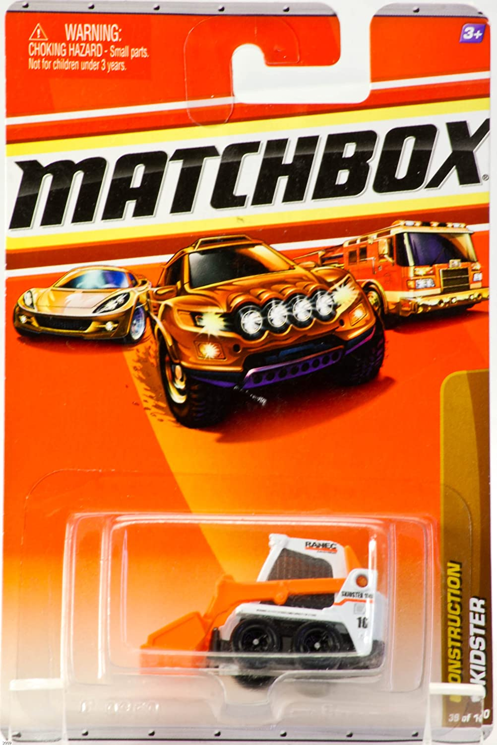 2009  Mattel  Matchbox  Construction Skidster  39 of 100 Vehicles  Die Cast Metal  Out of Production  Collectible