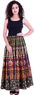 Handicraft-Palace Women's Cotton Long Wrap-around Skirts (CMS-18, Orange, Large)