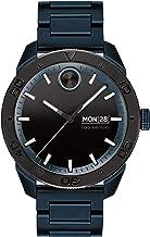 Movado Bold, Ionic Plated Blue Steel Case, Black Dial, Blue Steel Bracelet, Men, 3600607