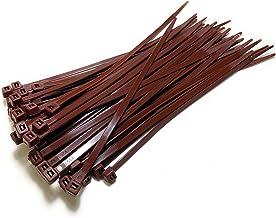 Kabelbinders - 200 mm x 4,8 mm - 8 inch Premium Tie Wraps - Hoge kwaliteit Nylon Zip Ties (bruin)