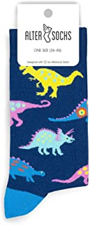 Altersocks, Calcetines unisex de fantasía y colores de algodón – Modelo Dinosaurios, talla única (36 a 45)