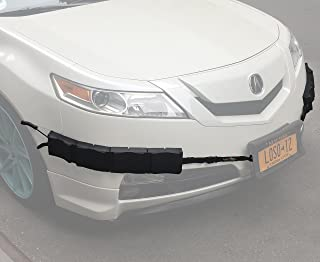 Bumper Thumper Ultimate Complete Coverage Front Bumper Guard Shock Absorbing Flexible License Plate Frame Protection System (Left and Right Side/Corner Set ONLY)