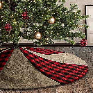 F-blue 90cm Red Christmas Tree Non-Woven-Rock mit Goldrand R/üschen Ferien schm/ückendes Beiwerk