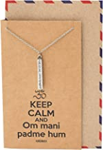 Quan Jewelry Yoga Necklace Om Pendant in Sanskrit, Inspirational Gifts for Women