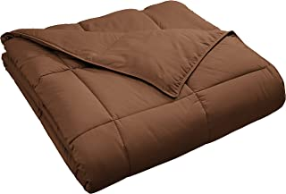 Superior Classic All-Season Down Alternative Comforter with with Baffle Box Construction, Twin, Chocolate