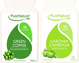 Green Coffee Bean High Strength Garcinia Cambogia Triple Strength Combo Pack from Purenature A Diet Slimming and Wellbeing 180 Vegetarian Vegan Capsules Estimated Price : £ 17,97