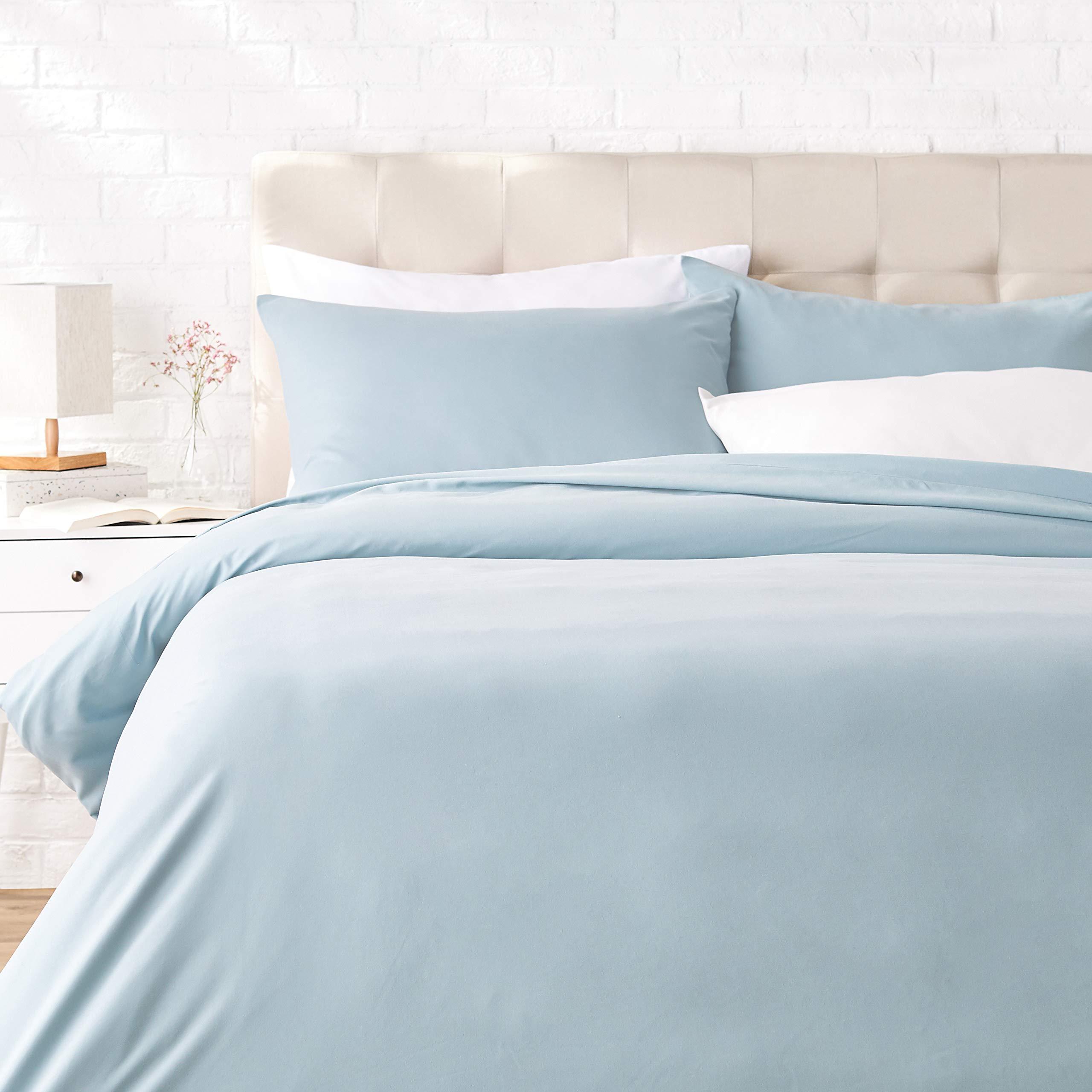 135 x 200 cm // 50 x 80 cm gris oscuro Basics Juego de fundas de edred/ón y almohada de microfibra premium