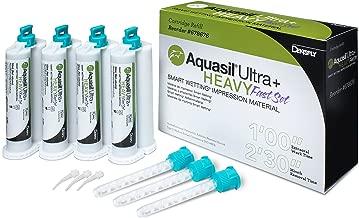 Aquasil Ultra+ Smart Wetting Tray Impression Material Vinylpolysiloxane Refill 50 mL Heavy Body Regular Set Light Green Unflavored (Pack of 4)