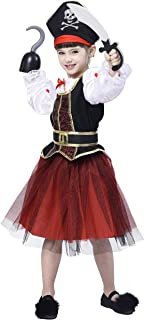 Girls Pirate Costume Role Play Set, Buccaneer Fancy Dress Outfit