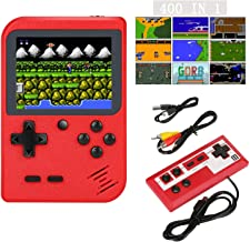 zehzehhLK990 Handheld Game Console, Retro Mini Game Player with 400 Classical Games, 1020mAh Rechargeable Battery Handheld...