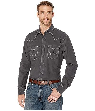 Wrangler Retro Premium Long Sleeve Solid Shirt (Charcoal) Men