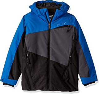 Spyder Boys' Big City to Slope Full Zip Hooded Jacket with Poly Fill