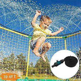 IZHH Trampoline Sprinkler - Fun Summer Toys for Kids Outdoor Trampoline Sprinkler Water Park Summer Toys Backyard Water Games Sprinkler for Trampoline 39 Ft