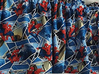 The Amazing Spider-Man Curtains, Marvel Comic Curtains, Short Curtains, Boy's Bedroom Curtains (41-42 Inches Wide x 15 Inches Long)