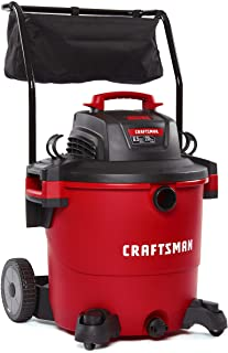 CRAFTSMAN CMXEVBE17656 20 gallon 6.5 Peak Hp Wet/Dry Vac with Cart, Heavy-Duty Shop..