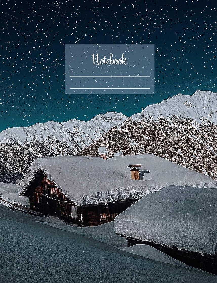 """スカリー思い出すウィスキーNotebook: Composition Notebook. College ruled with soft matte cover. 120 Pages. Perfect for school notes, Ideal as a journal or a diary. 9.69"""" x 7.44"""". Great gift idea. (Winter snow cosy cover)."""