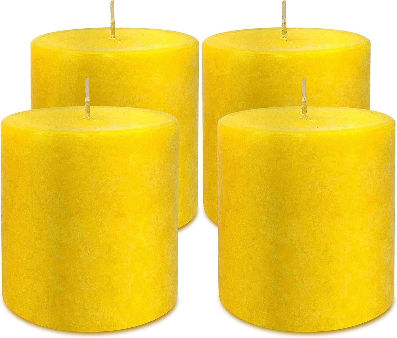 Citronella Tulsa Mall Pillar Candles Max 54% OFF - Scented 4 Pack