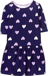 Girls' Toddler Dropwaist Heart Print Dress