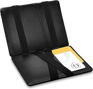 GenTo® Vegas Magic Wallet - Certificado RFID, protección NFC - Billetera mágica y Fina con Compartimento para Monedas - Re...