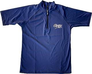 Stingray Australia Mens Sun Protection Plus Size Swim Rash Shirt Short Sleeve with Zip