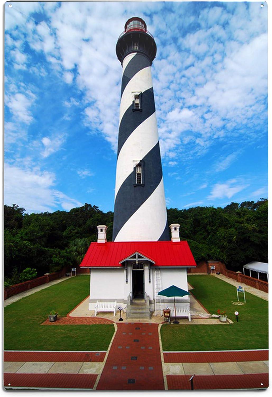 Lantern Press St. Florida Lighthouse New popularity Augustine safety
