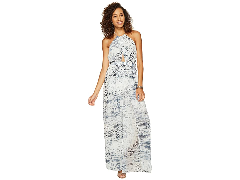 The Jetset Diaries Zambia Maxi Dress (Charcoal Print) Women