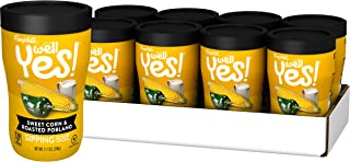 Campbell's Well Yes! Sipping Soup, Vegetable Soup On The Go, Sweet Corn & Roasted Poblano, 11.1 oz. Cup (Pack of 8)