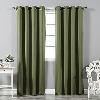 Best dark olive curtains Reviews