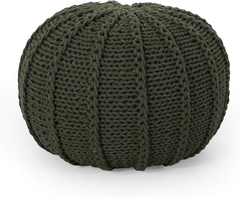 贈物 Christopher Knight 半額 Home Corisande Modern Round Cotton Po Knitted