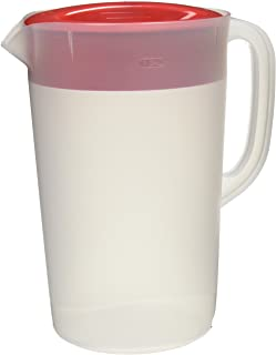 Imperial Distributors Not Available Rubbermaid Clear Pitcher, 1 Gallon, Red
