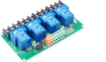 KNACRO 4-Channel DC 24V Relay Module High Low Level Triggering Optocoupler Isolation Load 30A DC 30V AC 250V for PLC Automation Control, Industrial System Control, Arduino
