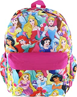 Disney Princess 16 inch All Over Print Deluxe Backpack With Laptop Compartment