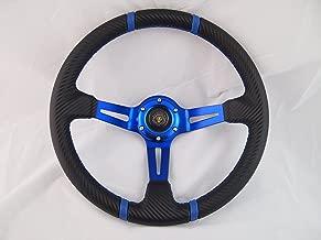 Boat Blue Steering Wheel W/Adapter 3 Spoke Boats With A 3/4