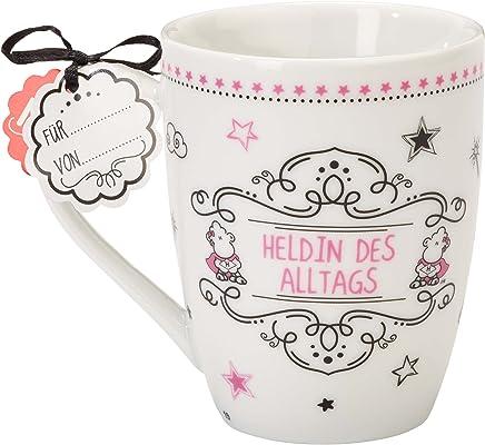 Sheepworld 59258 Lieblingstasse Heldin des Alltags, Porzellan-Tasse, mit Geschenk-Anhänger preisvergleich bei geschirr-verleih.eu