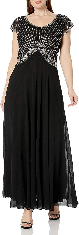 J Kara Women's Sweet Heart Neck Long Dress