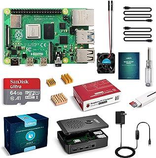 LABISTS Raspberry Pi 4 Complete Starter Kit with Pi 4 Model B 4GB RAM Board, 64GB Micro SD Card Preloaded Noobs, 5V 3A Pow...