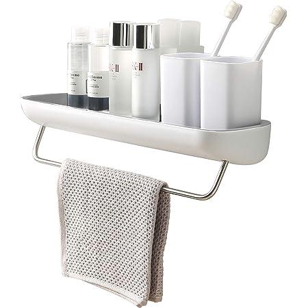 BATHROOM SELF ADHESIVE STORAGE ORGANISER shower kitchen holder TRANSPARENT