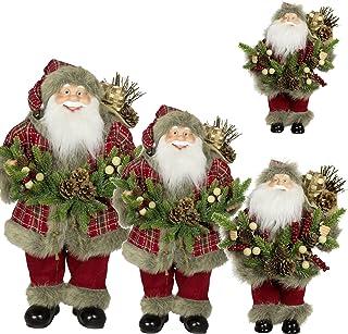 97303f810 LD 1pc decorativa navideña 30 cm Papá Noel Decoración Navidad Papá Noel  Santa Clause Figura grande