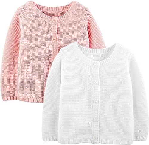 Simple Joys by Carter's Lot de 2 cardigans tricotés pour bébé fille