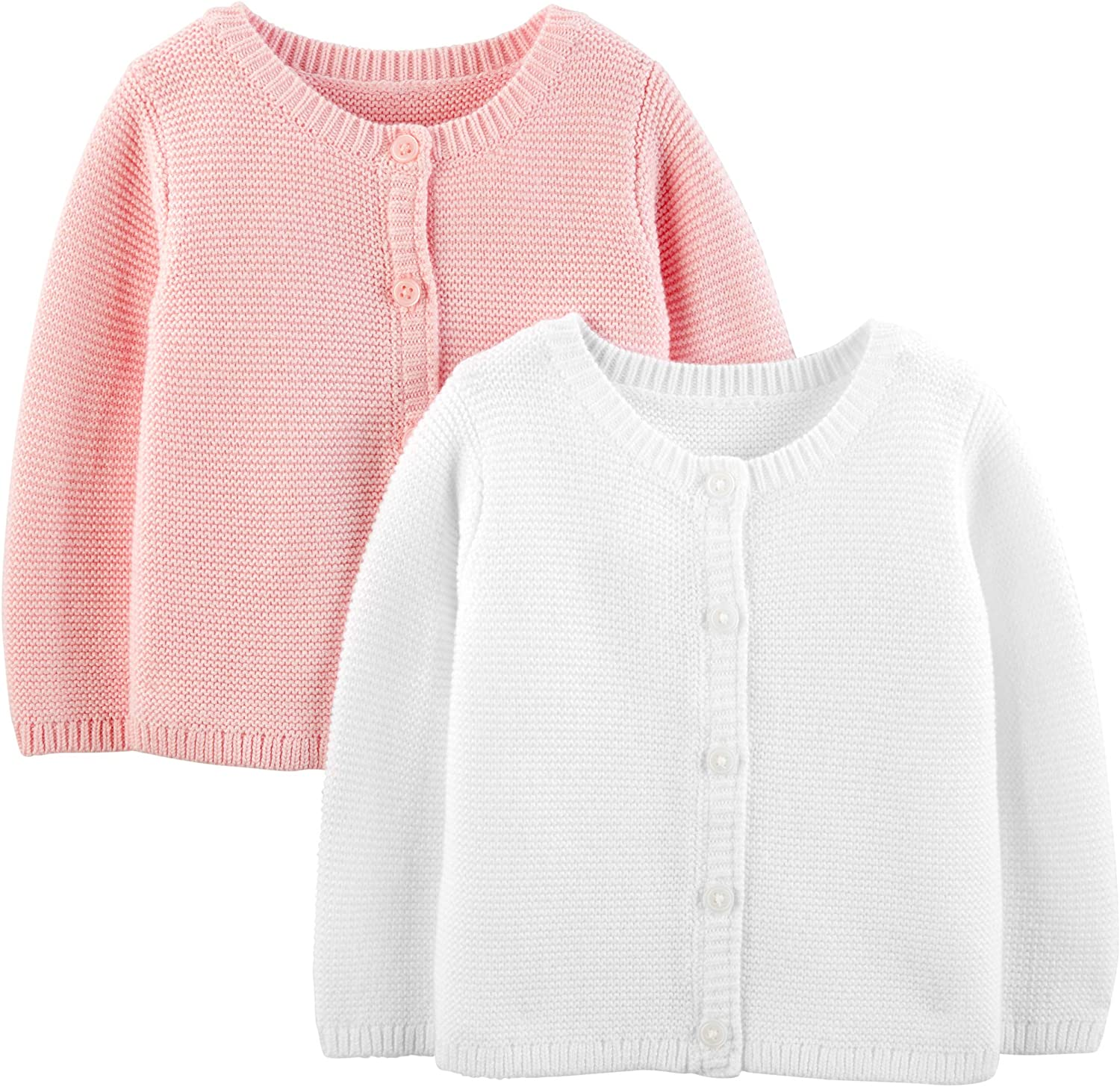 Simple Joys by Carter's Baby Girls' 2-Pack Knit Cardigan Sweaters