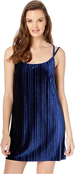 Pasadena Pleated Velvet Slip Dress