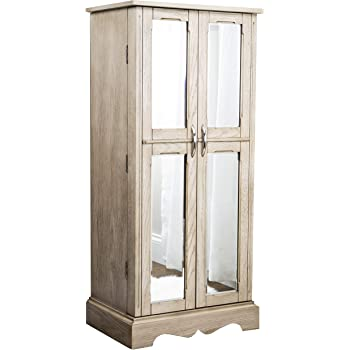 Hives and Honey Chelsea Jewelry Armoire, Taupe Mist