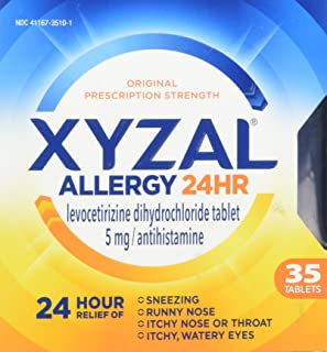 Xyzal Allergy 24 Hour 35 Tablets (Pack of 2)