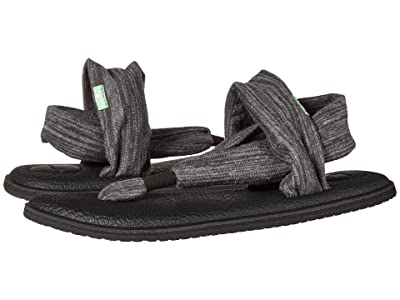 Sanuk Yoga Sling 2 Pinstripe (Black) Women