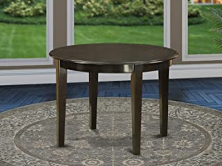 East West Furniture Round Table with 4 Tapered Legs, 42-Inch